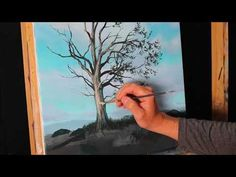 (1397) How to paint a more rounded looking tree - painting tips and tricks, Tim Gagnon - YouTube