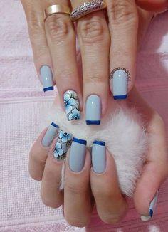 148 fotos de unhas decoradas com flores! Pedicure Designs, Manicure And Pedicure, Pedicure Ideas, Nail Art Design Gallery, Nail Art Designs, Love Nails, Fun Nails, Glitter Gel Polish, Glitter Art
