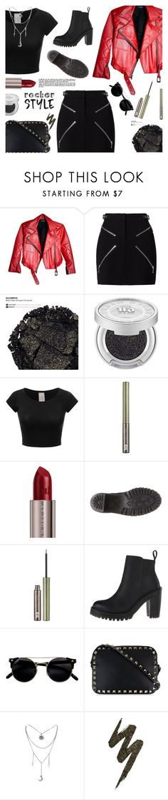 """""""Rocker Style"""" by annbaker ❤ liked on Polyvore featuring Alexander Wang, Urban Decay, Valentino, rockerchic and rockerstyle"""
