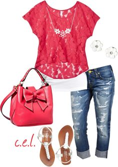 """Strawberry Pink..."" by sweetlikecandycane on Polyvore"