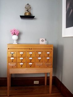 Inspiration: Using An Old Card Catalog as A Bar