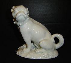 Antique German Blanc De Chine Porcelain Pug Dog Figurine