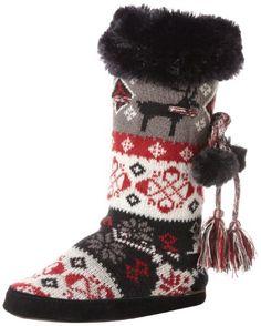 Muk Luks Women's Helga Tradition Slipper Bootie, Black, Medium 6.5-7.5 MUK LUKS http://www.amazon.com/dp/B001HQ91CY/ref=cm_sw_r_pi_dp_6aoRtb01YBSWHCF3