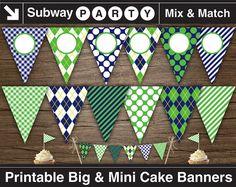 Bandera fiesta Golf imprimible. 7 gran fiesta por subwayParty