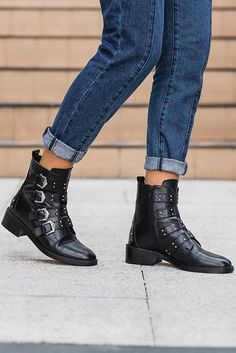 Black Flat Ankle Boots Buckle up for some serious style points in Carvela  Kurt Geiger s fresh cb672369dab4