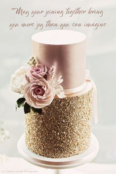 Gold & Pink Wedding Cake By Mama Cake Iced Wedding Cake Buttercream Royal Icing Elegant Wedding Cakes From Top UK Wedding Cake Makers RMW The List Recommended By Rock My Wedding Uk Wedding Cakes, Wedding Cake Maker, Elegant Wedding Cakes, Beautiful Wedding Cakes, Wedding Cake Designs, Beautiful Cakes, Trendy Wedding, Elegant Birthday Cakes, Rustic Wedding