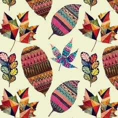 Painted Leaves by Gabee Meyer, via Behance
