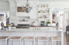 Country chic kitchen by Julie Holloway, Milk and Honey Home.
