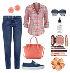 """""""Peachy day"""" by gallant81 ❤ liked on Polyvore featuring maurices, Frame Denim, Vans, Foley + Corinna, Liz Law, Chloé, Charlotte Tilbury and philosophy"""