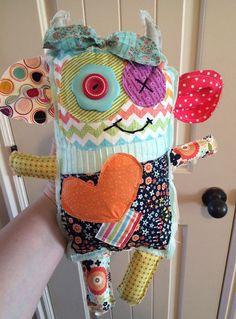 Monster Stuffed Animal by CreationsbyJaycie on Etsy