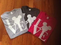 Get ready for your vacation or family trip with our I Love Mickey T-shirt also great for your Disney trip. T-shirts come in 6 different colors. 100% cotton loose fit.