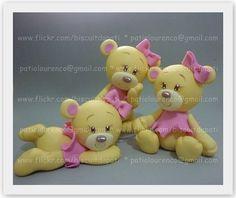 Ursinhas Caramelo, Marrom e Rosa by Biscuit da Pati, via Flickr