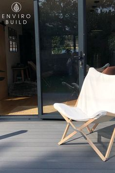 A deck and a comfy chair is all you need to relax and take in the beautiful space around you 📸: sylvan_renovations Builders Merchants, Floors And More, Comfy Chair, Composite Decking, Butterfly Chair, Beautiful Space, Cladding, Fence, Minimalist