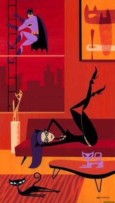 Batman, Catwoman, DC Comics, SHAG