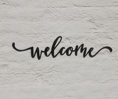Welcome Sign Home Decor, Welcome Word Wall Art