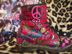 Music and a statement of individual self-expression. Brilliant custom Dr. Martens from KaTeabag