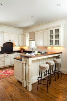 U Shaped Kitchen Remodel before and after . U Shaped Kitchen Remodel before and after . U Shaped Kitchen Ideas – Designs to Suit Your Space Kitchen Bar Counter, Tan Kitchen, Kitchen Cabinetry, Kitchen Redo, Country Kitchen, Kitchen Ideas, U Shape Kitchen, Kitchen Designs, Kitchen Appliances