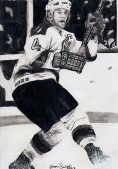 Hockey in art: Scott Stevens by Jason