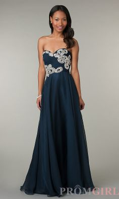 Prom Dresses, Celebrity Dresses, Sexy Evening Gowns - PromGirl: Strapless Sweetheart Full Length Alyce Dress #militaryball