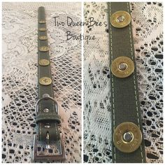 A personal favorite from my Etsy shop https://www.etsy.com/listing/237457490/shot-gun-shell-dog-collar-sz-large