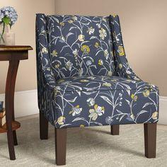 Best Simpli Home Hayworth Accent Chair In Cobalt Blue Accent 400 x 300