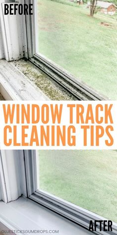 Best Ways to Clean Window Tracks Glue Sticks and Gumdrops is part of Cleaning window tracks - Frustrated with dirty window tracks Here are the best ways to clean window tracks with common household ingredients you already have on hand Deep Cleaning Tips, Household Cleaning Tips, Cleaning Recipes, House Cleaning Tips, Natural Cleaning Products, Natural Cleaning Solutions, Window Cleaning Products, Household Cleaners, Clean House Tips