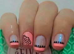 Trendy Ideas For Nails Design Summer Gel French Manicures Fun Gel French Manicure, French Tip Nails, Nail Manicure, Gel Nails, French Manicures, Black Nail Designs, Diy Nail Designs, Acrylic Nail Designs, Really Cute Nails