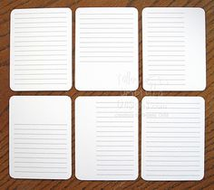 Like the lines rather than grid for vertical journal cards. The blank spaces are perfect for paper scraps maybe adorned with a border punch? Diy Journal Books, Life Journal, Journal Cards, Journals, Project Life Freebies, Project Life Cards, Pocket Scrapbooking, Digital Scrapbooking, Filofax