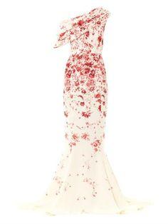Silk cady one-shoulder gown | Giambattista Valli Couture