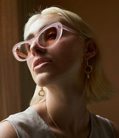 NUOVO SUNGLASSES IN PINK & BROWN