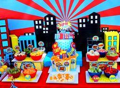 SUPERHERO Birthday Party POPCORN Cone Super by KROWNKREATIONS