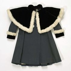 Ensemble Date: 1895–99 Culture: French Medium: (a, b) wool, silk, fur (c) silk, feather