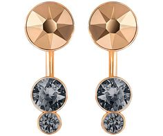 Enjoy two looks in one with this pair of earring jackets featuring a gorgeous combination of rose gold-plated metal and metallic-toned crystals. Wear ... Shop now