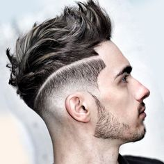 Edgy Undercut Men | Edgy men's undercut hairstyle with square angles