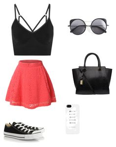 """""""Sin título #20"""" by cande-izzo on Polyvore featuring moda, LE3NO, Converse, NIKE y Wood Wood"""