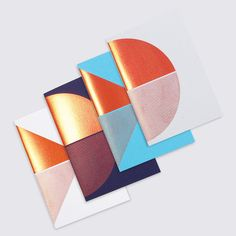 Geometric notebooks by Tom Pigeon