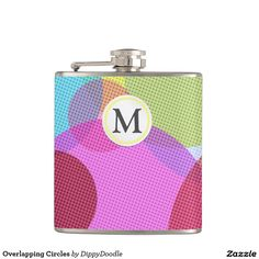 Overlapping Circles Hip Flask