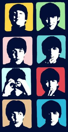 The Beatles Maybe this kind of silhouette for a tattoo