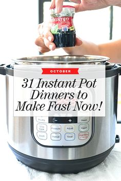 Great These 31 recipe ideas using the Instant Pot are perfect for whipping up homemade, healthy dinners for slow cooking, pressure cooking or even searing. The post These 31 recipe ideas us . Power Cooker Recipes, Pressure Cooking Recipes, Crock Pot Cooking, Cooking Turkey, Cooking Ribs, Smoker Cooking, Cooking Stove, Cooking Chef, Pressure Pot