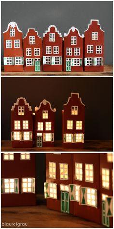 Häuser aus Milchkarton