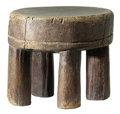 Antique Furniture, Cool Furniture, Milking Stool, African Sculptures, Small Stool, Africa Art, Wood Stool, Old Chairs, African Masks