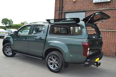 JW Rigby fitted a Isuzu D-Max in Tundra green with a Gullwing Canopy. Call us for a quote 01332 601016 Isuzu D Max, Steel Canopy, Canopies, 4x4, Jeep, Trucks, Quote, Mood, Cars