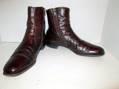 sz 13 a vintage men brown leather ankle boots by CreativeObjective
