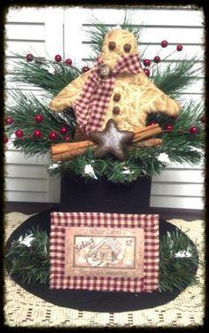 Gingerbread Top HatHome DecorGinger by CholulasAttic on Etsy
