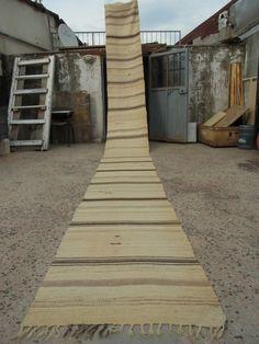 23' X 2'3'' ft Rug RunnerKilim Runner100% Organic Wool RugHallway by zkrugs