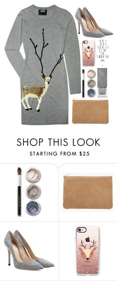 """Deer"" by erohina-d ❤ liked on Polyvore featuring Markus Lupfer, Bare Escentuals, Balmain, Gianvito Rossi, Casetify, Burberry and Rika"