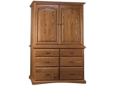 Abalone Bedroom Stately Entertainment Armoire Center Only AW1665 - Penny Mustard - Greendale, Wisconsin