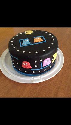 Pac Man My Cakes Pinterest Pac Man Cake And Food - Tetris birthday cake