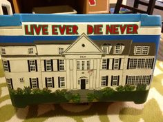 I decided to paint the UNL Phi Kappa Psi fraternity house right on the back of my cooler!
