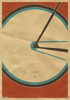 Singlespeed - Retro Fixie Bike Poster Print by Dirk Petzold Illustrations, via Flickr